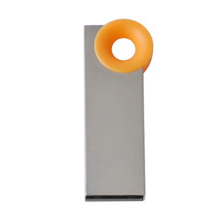 """Мini USB-Flash накопитель """"Ring"""" в металлическом корпусе с пластиковым цветным кольцом, 4 Gb, оранжевый"""