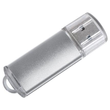"USB flash-карта ""Assorti"" (4Гб), серебристая, металл"