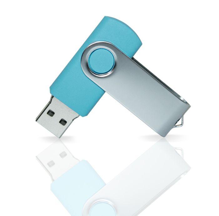 Флешка PVC001 (голубой 2190 c) с чипом 4 гб. USB 2.0