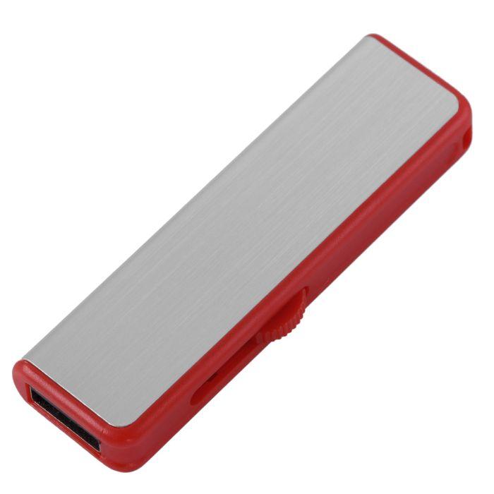 Флешка Ferrum, 8 Гб, серебристая с красным