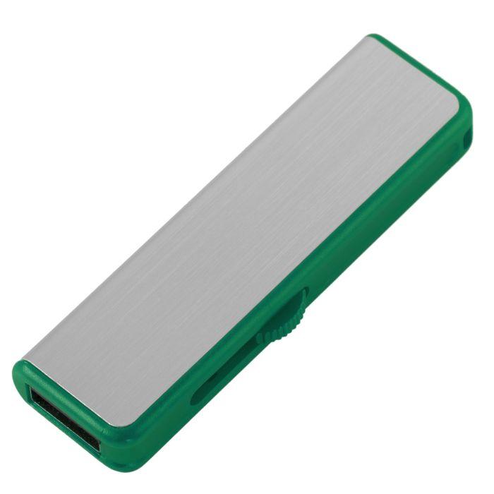 Флешка Ferrum, 8 Гб, серебристая с зелёным