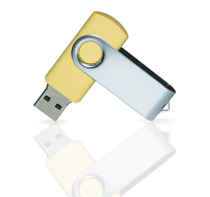 Флешка PVC001 (желтый 120 c) с чипом 8 гб. USB 2.0