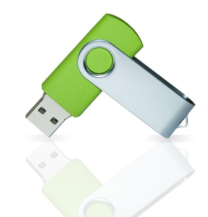 Флешка PVC001 (салатовый 368 c) с чипом 8 гб. USB 2.0
