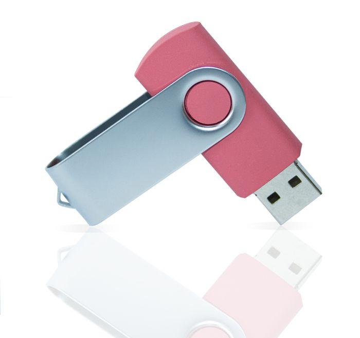 Флешка PVC001 (розовый 7423 c) с чипом 8 гб. USB 2.0