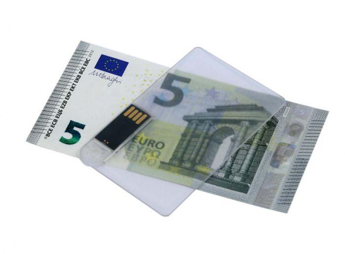 Флешка в виде прозрачной пластиковой карты 16Гб, цвет Белый, USB2.0