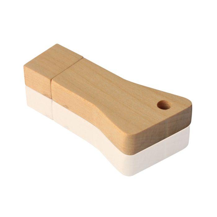 "Флешка DR056 ""Ключ 6"" (липа натуральная) с чипом 16 гб. USB 2.0"