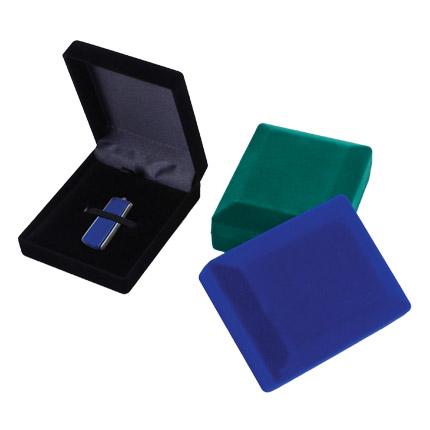 Подарочная коробка для USB-Flash накопителя, черный бархат