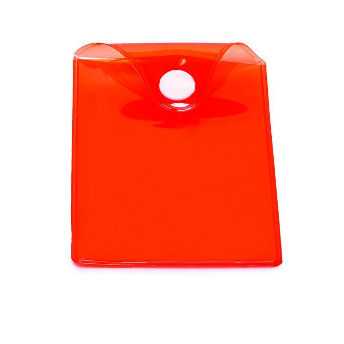 Карман пластиковый прозрачный с кнопкой U-PK003, красный