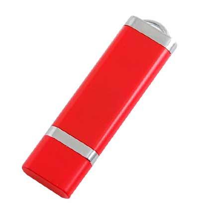 """USB-Flash накопитель (флешка) """"LIGHT"""", 32 GB пластиковый корпус, алюминиевые вставки. Красный"""