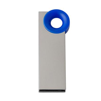 """Мini USB-Flash накопитель """"Ring"""" в металлическом корпусе с пластиковым цветным кольцом, 32 Gb, синий"""