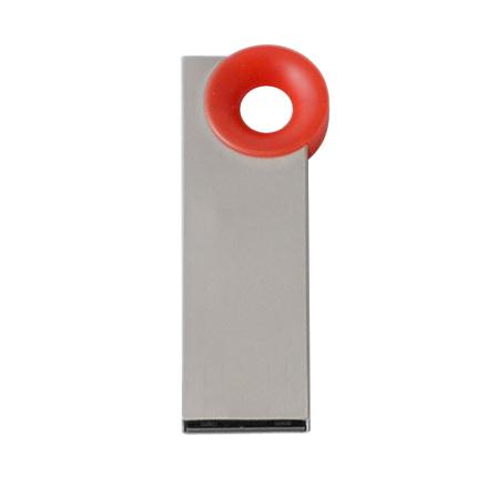 """Мini USB-Flash накопитель """"Ring"""" в металлическом корпусе с пластиковым цветным кольцом, 32 Gb, красный"""