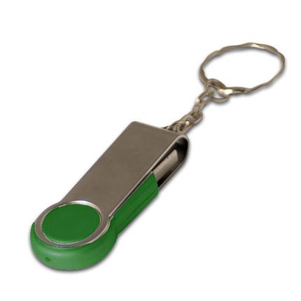 """USB-Flash накопитель - брелок (флешка) """"Swing"""", 32 Gb, в металлическом корпусе с пластиковыми вставками, зеленый"""