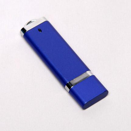 USB-Flash накопитель (флешка) из пластика классической прямоугольной формы, модель 002, объем памяти 32 Gb, цвет синий