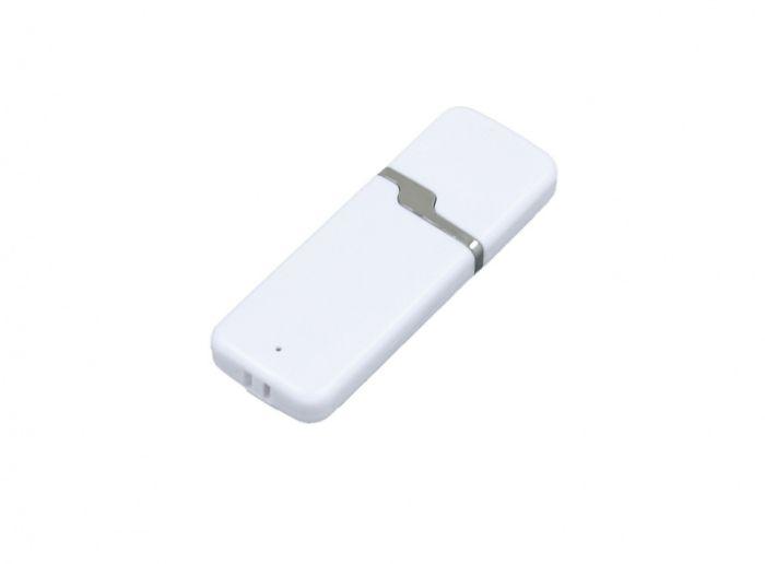 USB-Flash накопитель (флешка) промо прямоугольной формы c оригинальным колпачком, модель 004, объем памяти 32 Gb, цвет белый