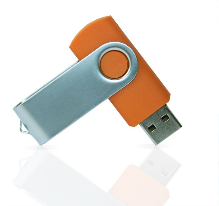 Флешка PVC001 (оранжевый 7578 c) с чипом 32 гб. USB 2.0