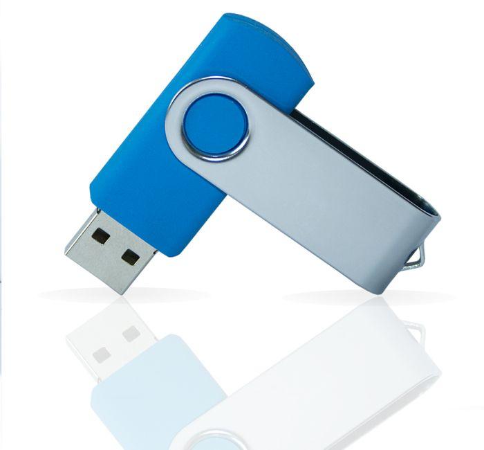 Флешка PVC001 (синий 7689 c) с чипом 32 гб. USB 2.0