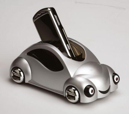 """USB Hub на 4 порта """"Автомобиль"""" с функцией подставки под мобильный телефон и зарядного устройства для моделей с разъемом мини-USB"""