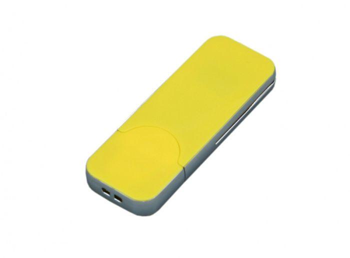 USB-Flash накопитель (флешка) в стиле I-phone, модель I-phone_style, прямоугольной формы, объем памяти 64 Gb, цвет жёлтый