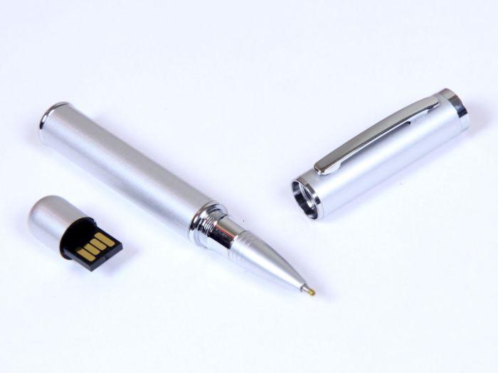 Флешка мини ручка, 64 Гб. Серебряный, USB2.0