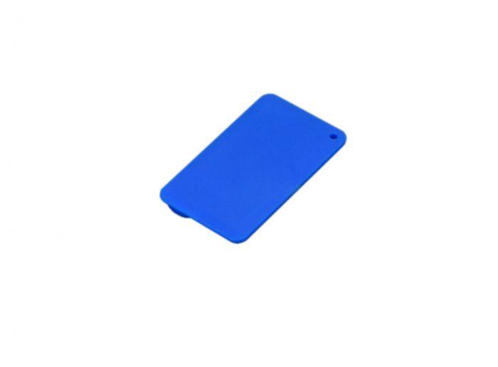Флеш-накопитель в виде пластиковой карты, 16 Гб. Цвет  синий, USB2.0