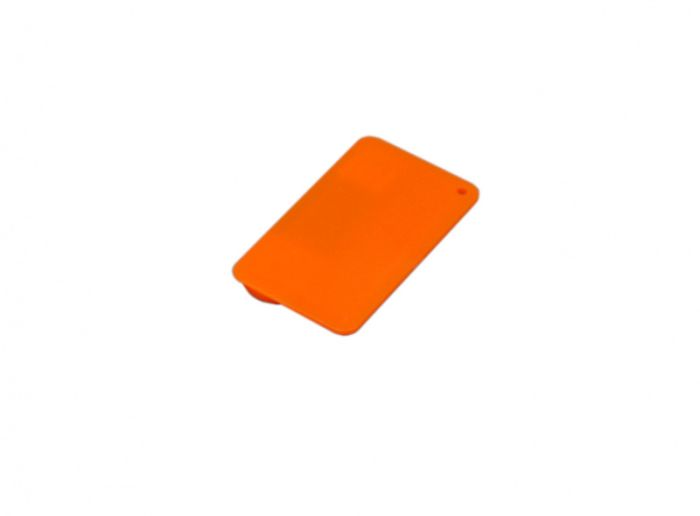 Флеш-накопитель в виде пластиковой карты,16 Гб. Цвет оранжевый, USB2.0