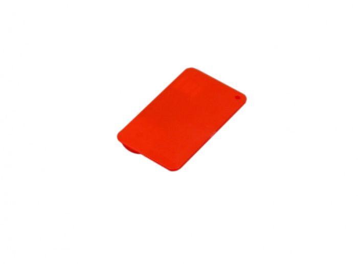 Флеш-накопитель в виде пластиковой карты,, 16 Гб. Цвет красный, USB2.0