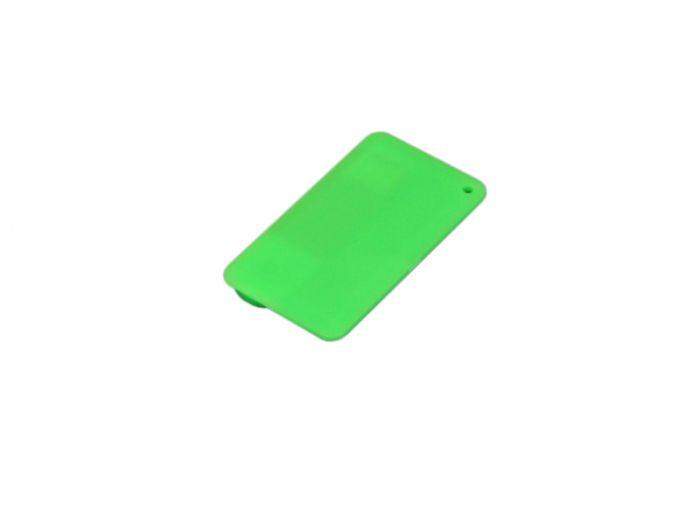 Флеш-накопитель в виде пластиковой карты,16 Гб. Цвет зелёный, USB2.0