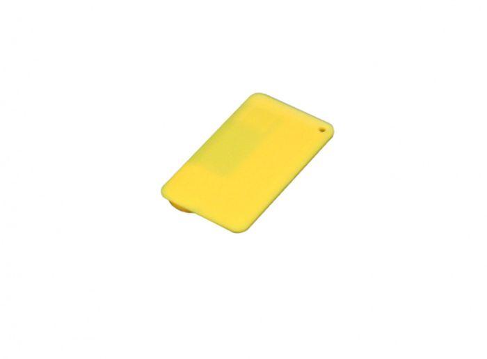 Флеш-накопитель в виде пластиковой карты,16 Гб. Цвет жёлтый, USB2.0