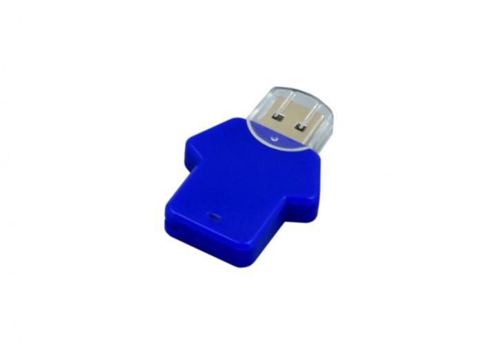USB-Flash накопитель (флешка)  из пластика, модель Football_man, объем памяти 128 Gb, цвет синий