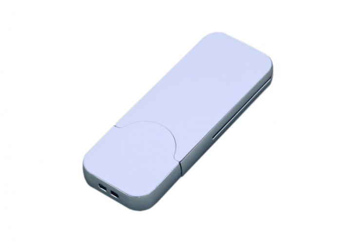 USB-Flash накопитель (флешка) в стиле I-phone, модель I-phone_style, прямоугольной формы, объем памяти 128 Gb, цвет белый