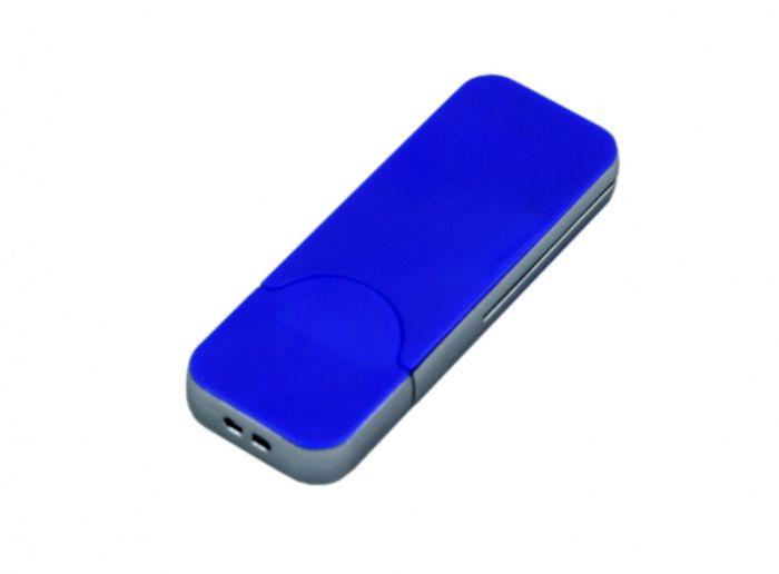 USB-Flash накопитель (флешка) в стиле I-phone, модель I-phone_style, прямоугольной формы, объем памяти 128 Gb, цвет синий