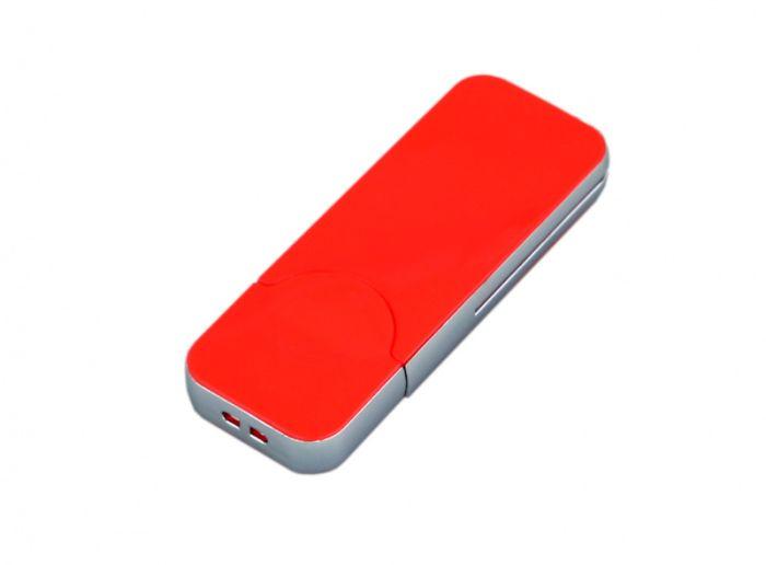 USB-Flash накопитель (флешка) в стиле I-phone, модель I-phone_style, прямоугольной формы, объем памяти 128 Gb, цвет красный