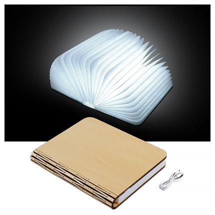 """Книга-лампа """"Book lamp"""", деревянная обложка"""