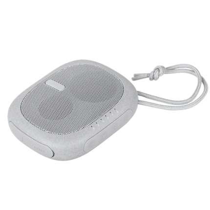 Беспроводная Bluetooth колонка c внешним аккумулятором Pebble, 2600 мАч, цвет светло-серый