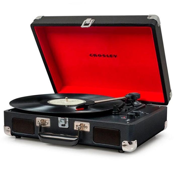 Виниловый проигрыватель CROSLEY CRUISER DELUXE Black c Bluetooth, цвет чёрный с красным