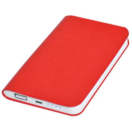 """Универсальное зарядное устройство """"Softi"""" (4000mAh), цвет красный"""