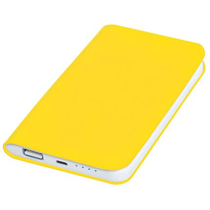 """Универсальное зарядное устройство """"Softi"""" (4000mAh), цвет жёлтый"""