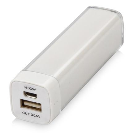 """Портативное зарядное устройство """"Ангра"""", 2200 mAh, цвет белый"""