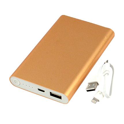 Универсальное зарядное устройство power bank PBM02, ёмкость 8000 mah, цвет золотой металлик