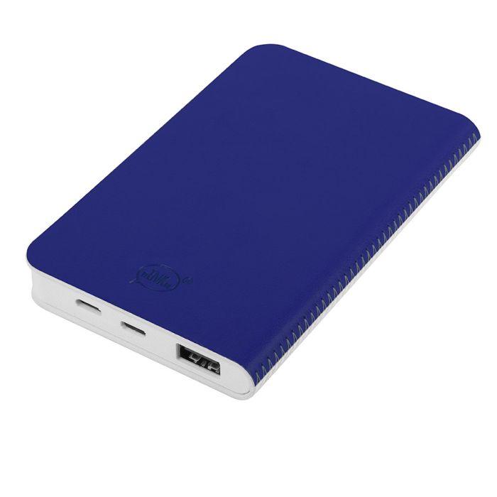 """Универсальное зарядное устройство """"Franki"""" (4000mAh), цвет белый с синим"""