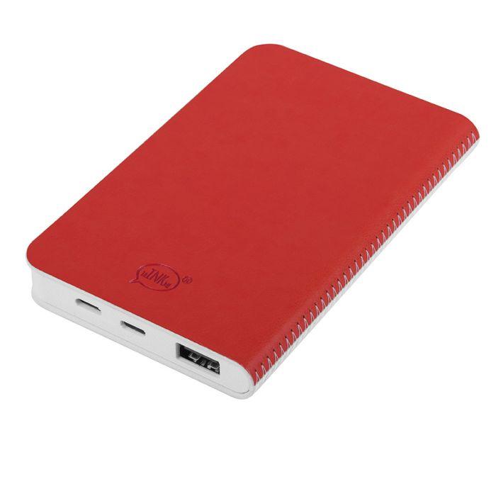 """Универсальное зарядное устройство """"Franki"""" (4000mAh), цвет белый с красным"""