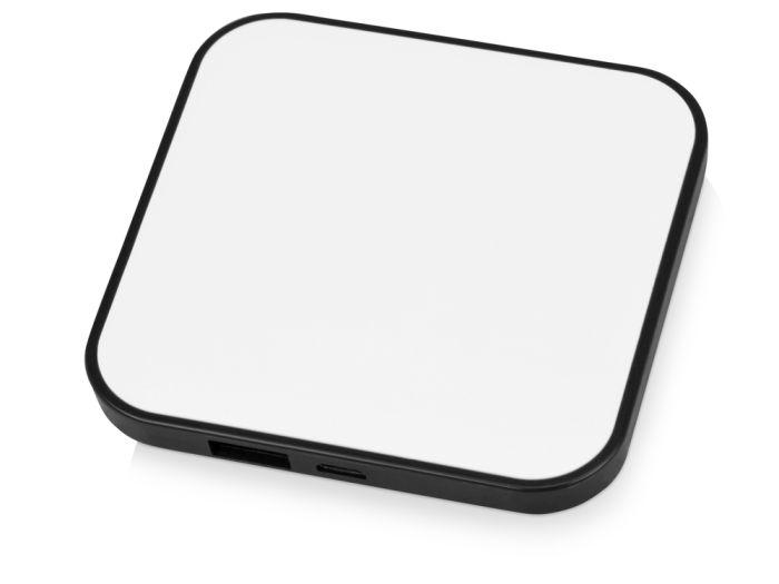 """Портативное зарядное устройство """"Квадрум"""", 2600 mAh, цвет белый с чёрным"""