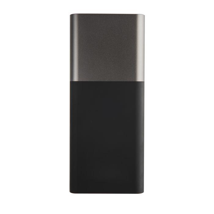 """Универсальное зарядное устройство """"Black gun"""" (10000 mAh), цвет черный с серым"""