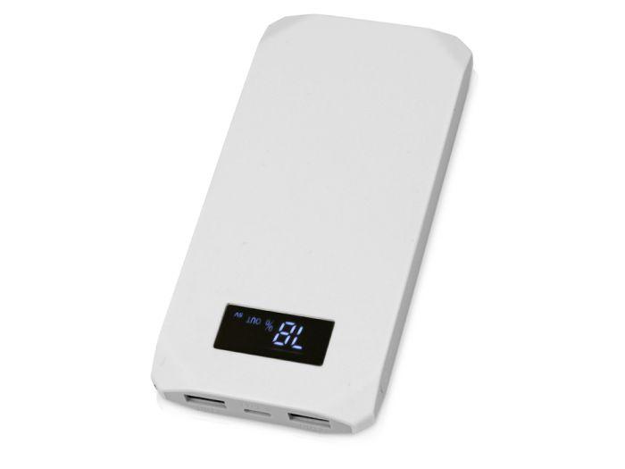 """Портативное зарядное устройство """"Quickr"""" с функцией быстрой зарядки, с покрытием SOFT TOUCH, 10000 mAh, цвет серый"""