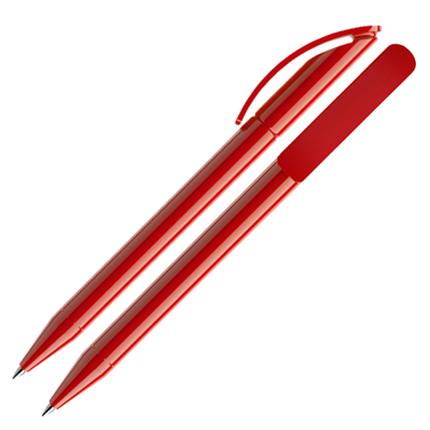 Ручка шариковая Prodir, модель DS3 TPP, цвет красный