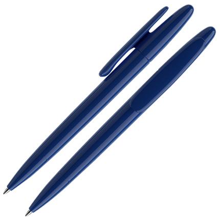Ручка шариковая Prodir, модель DS5 TPP, со съёмной накладкой на клип, цвет синий