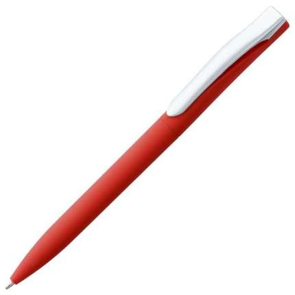 Ручка шариковая Pin, с покрытием SOFT TOUCH, красная