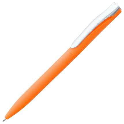 Ручка шариковая Pin, с покрытием SOFT TOUCH, оранжевая