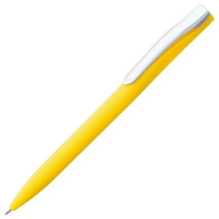 Ручка шариковая Pin, с покрытием SOFT TOUCH, жёлтая