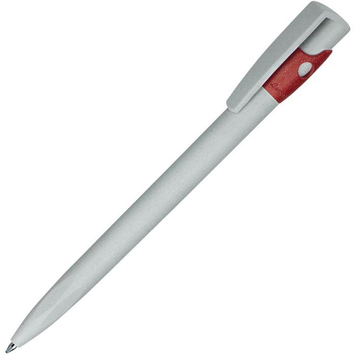 Ручка шариковая KIKI ECOLINE, экопластик, цвет жёлтый, цвет серый с красным